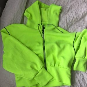 Neon crop sweater